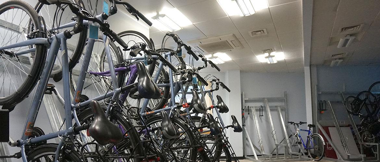 Bike Parking at the Barnsley Active Travel Hub