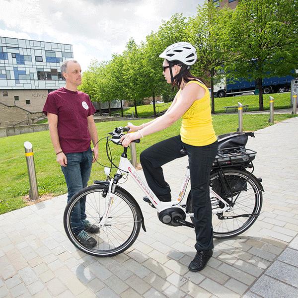 Loan an electric bike